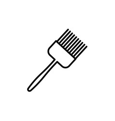 kitchen brush icon vector image vector image