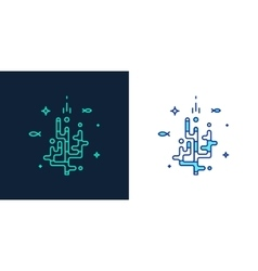linear style icon of a corals vector image
