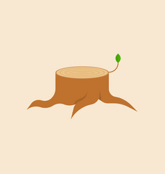 stump with young branch vector image