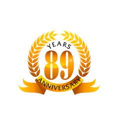 89 years ribbon anniversary vector