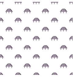 Arched train bridge pattern seamless vector