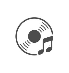 Audio cd music simple icon white design vector