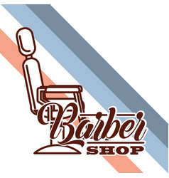 baber shop design vector image