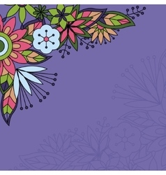 Background with flowers in the corner vector image