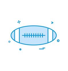 ball american icon design vector image