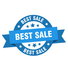best sale ribbon best sale round blue sign best vector image