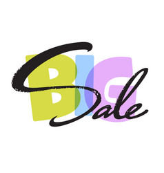 big sale typography vector image