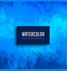 Blue watercolor stain background texture vector