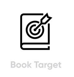 Book target icon editable line vector