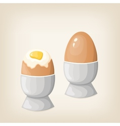 Breakfast boiled eggs vector image