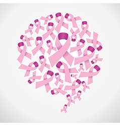 Breast cancer media campaign vector image