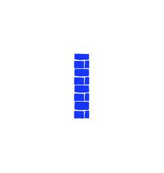 Brick logo letter i vector