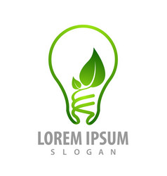 bulb leaf logo concept design symbol graphic vector image