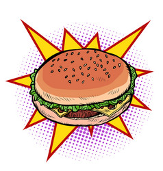 burger fast food vector image