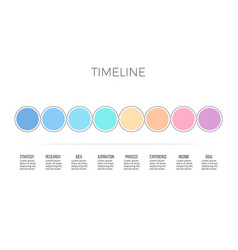 business infographics timeline with 8 steps vector image