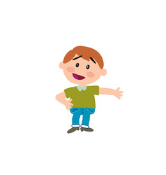 cartoon character boy showing vector image