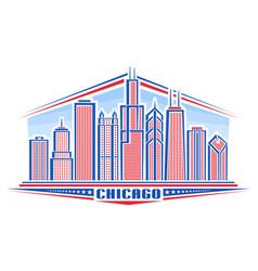 Chicago city vector