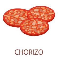 Chorizo icon isometric style vector