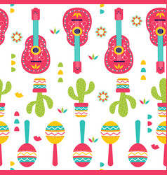 cinco de mayo seamless pattern for festival in vector image