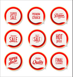 collection colorful modern badges and labels 5 vector image