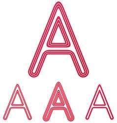 Crimson letter a logo design set vector