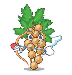 Cupid white currant isolated with the cartoons vector