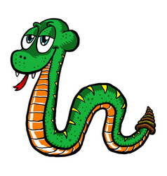 Cute cartoon snake vector