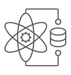 Data science thin line icon data and analytics vector