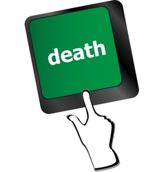 death button on computer keyboard pc key vector image