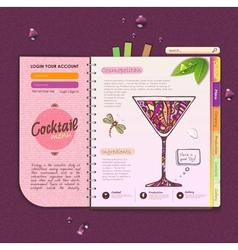 Decorative cocktail menu vector image