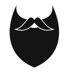 Dense beard icon simple style vector