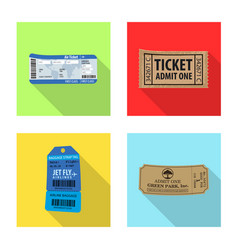 Design of ticket and admission sign set of vector