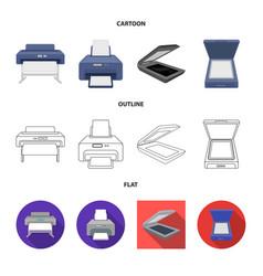 Design printer and plotter icon vector
