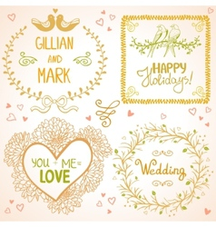 design wedding vector image