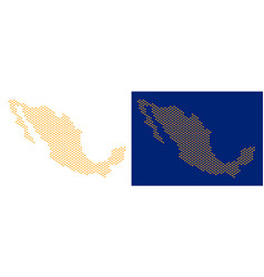 Dotted mexico map vector
