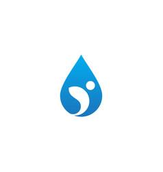 droplet water active people logo vector image