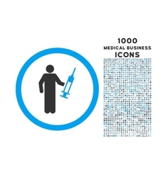 Drug Dealer Rounded Icon with 1000 Bonus Icons vector