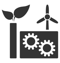 Eco Plant Flat Icon vector image