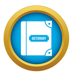 English dictionary icon blue isolated vector