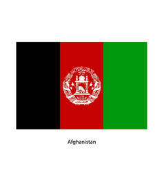 flag of afghanistan vector image