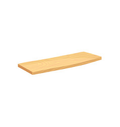 flat icon of wooden plank board with vector image