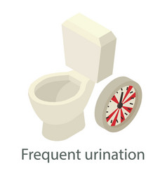 Frequent urination icon isometric style vector
