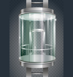 Glass outer elevator vector