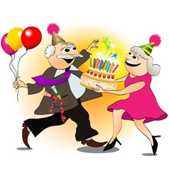 Grandfather birthday party vector image