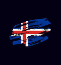 Grunge textured icelander flag vector