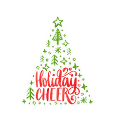 Handwritten phrase holidays cheer vector