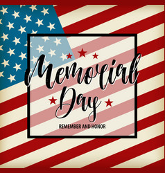 happy memorial day card national american vector image