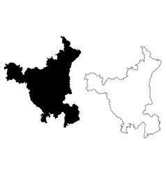 Haryana map vector