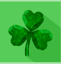 Icon of crystal emerald shamrock vector