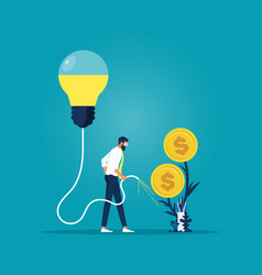 idea make money-business investment concept vector image